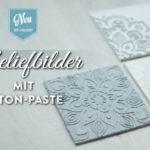 DIY: edle Reliefbilder mit Beton-Paste