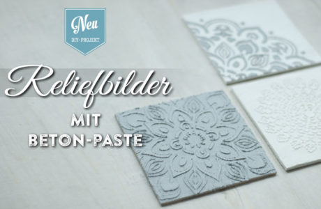 DIY: edle Reliefbilder mit Beton-Paste | Deko-Kitchen