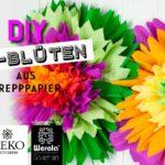 DIY: riesen XL-Blüten aus Krepppapier*
