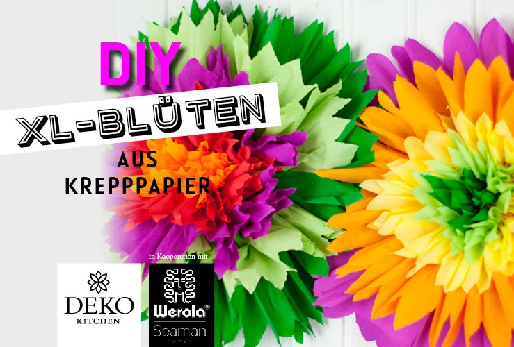 DIY: XL-Blüten aus Krepppapier
