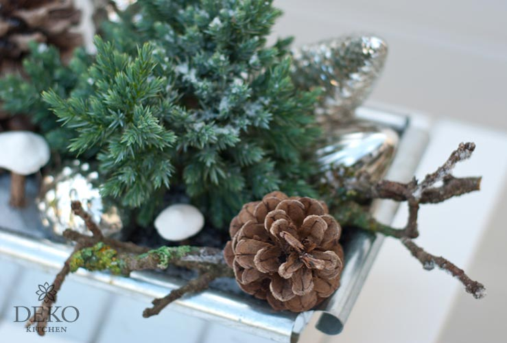 Diy blumenk sten f r herbst winter dekorieren deko kitchen - Winterliche dekoration ...