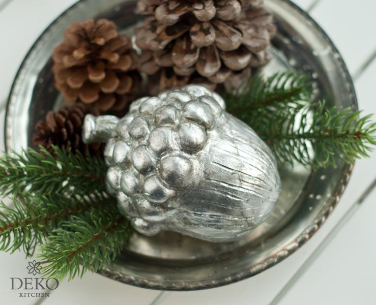 """DIY: hübsche Deko-Eichel im """"Antik-Silber"""" Look Deko-Kitchen"""