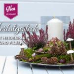 DIY: hübsches Herbstgesteck mit Heidekraut