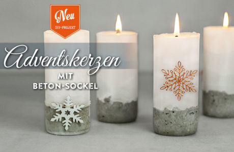 DIY: stylische Adventskerzen mit Betonsockel Deko-Kitchen