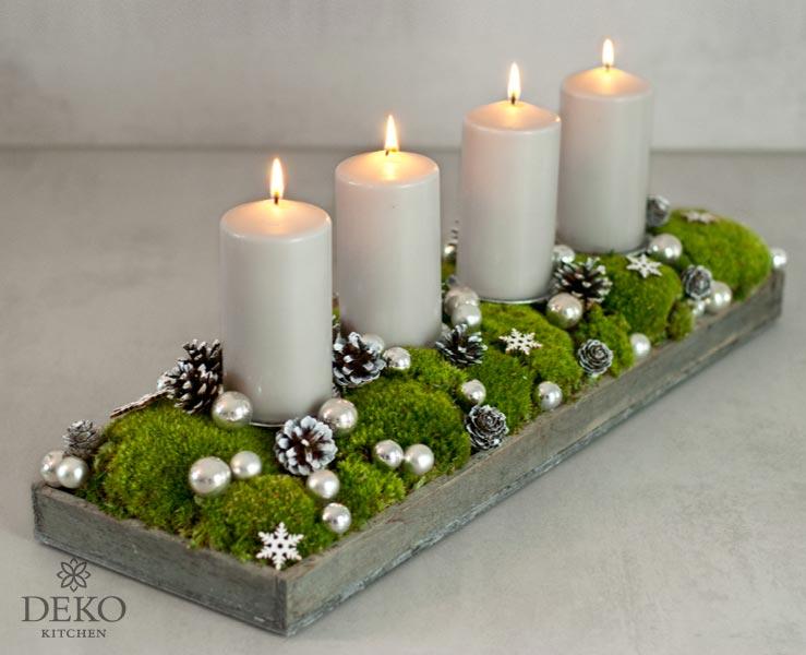 diy h bscher l nglicher adventskranz mit moos und kugeln deko kitchen. Black Bedroom Furniture Sets. Home Design Ideas