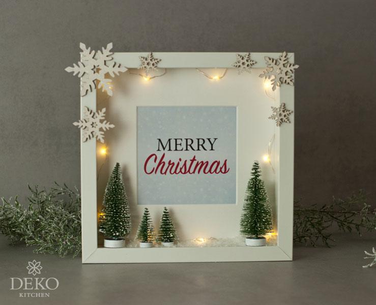 Diy: Süße Weihnachtsdeko Im Bilderrahmen – Deko-Kitchen