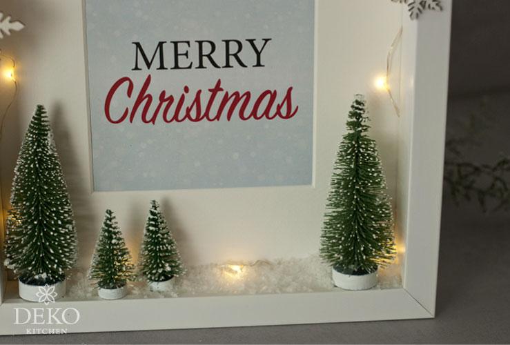 DIY: süße Weihnachtsdeko im Bilderrahmen Deko-Kitchen