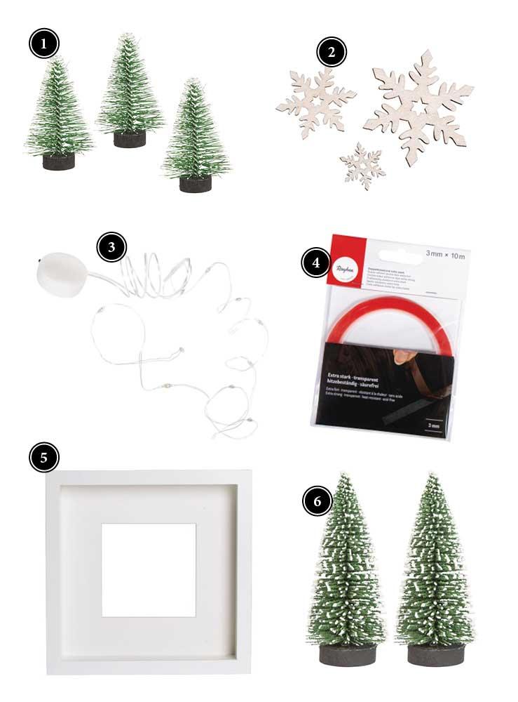 Diy Susse Weihnachtsdeko Im Bilderrahmen Deko Kitchen