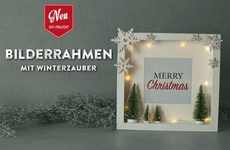 DIY: süße Weihnachtsdeko im Bilderrahmen