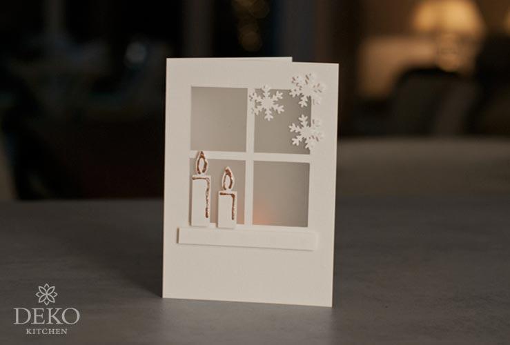 DIY: hübsche Weihnachtskarten für LED-Teelichter Deko-Kitchen