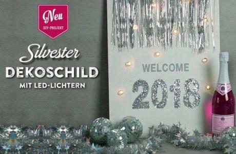 DIY: beleuchtetes Dekoshild für Silvester 2018 Deko Kitchen