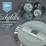 DIY: Silvester-Tischdeko mit Papier-Platztellern und Acrylkugeln Deko-Kitchen