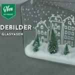 DIY: weihnachtliche Kreidebilder auf Glasvasen Deko-Kitchen