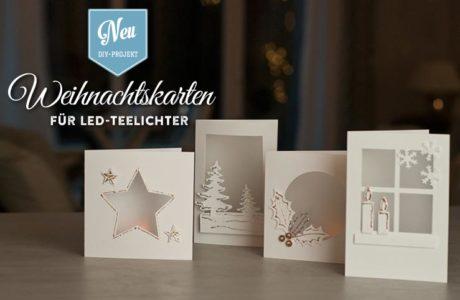 DIY: hübsche Weihnachtskarten für LED-Teelichter