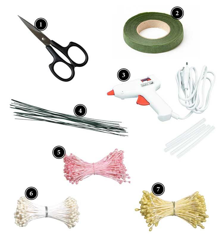Produkte zum Basteln von Papierblüten Deko Kitchen