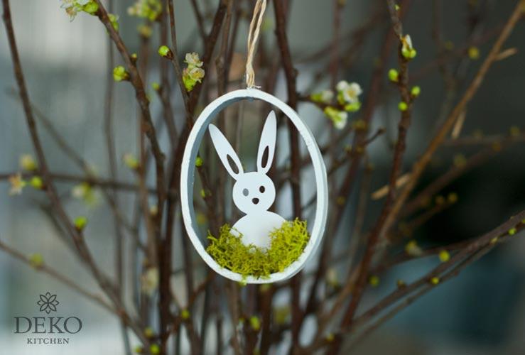 DIY: hübsche Osteranhänger mit Papiersilhouetten