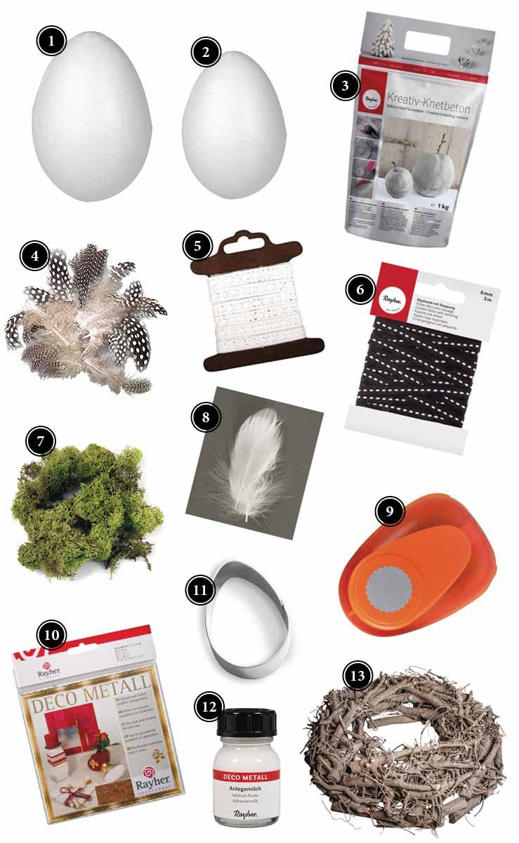 Produkte Ostereier aus Beton Deko Kitchen Shop