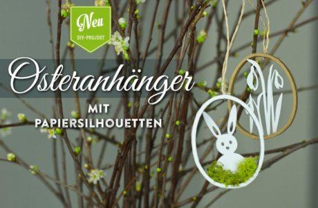 DIY: hübsche Osteranhänger mit Papiersilhouetten und Blüten