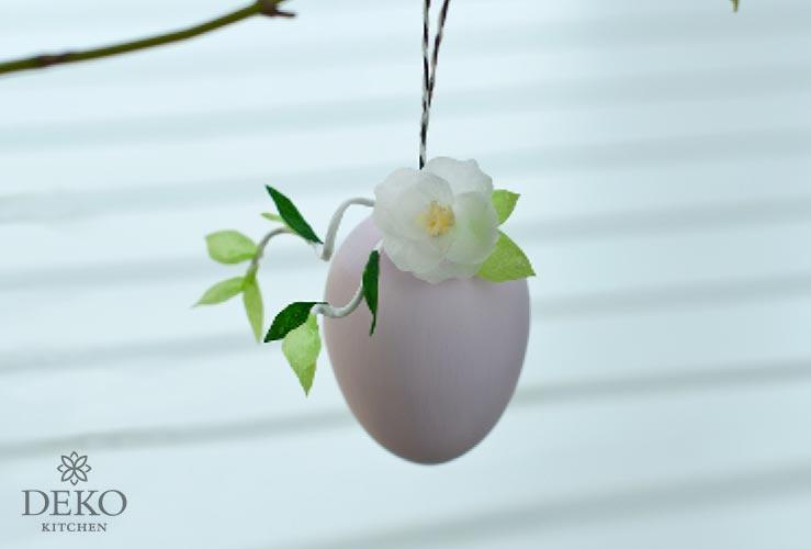 DIY: romantische Ostereier mit Apfelblüten aus Krepppapier Deko Kitchen