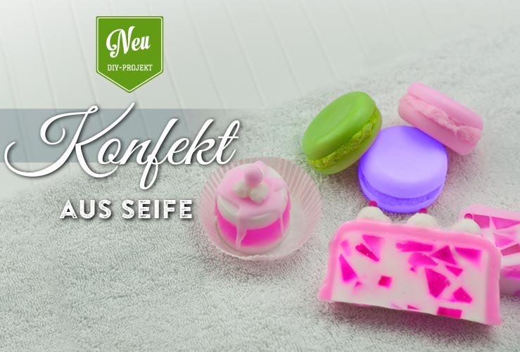 DIY: süßes Konfekt aus Seife gießen
