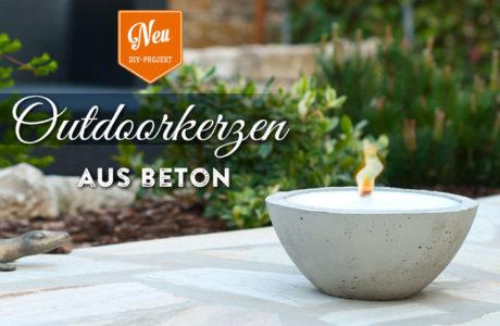 DIY: große Outdoor-Kerze aus Beton
