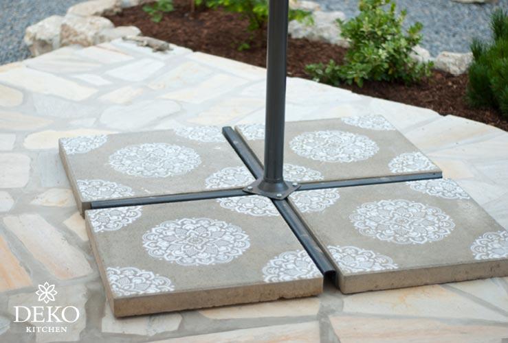 DIY: Sonnenschirmständer einfach verschönern Deko-Kitchen