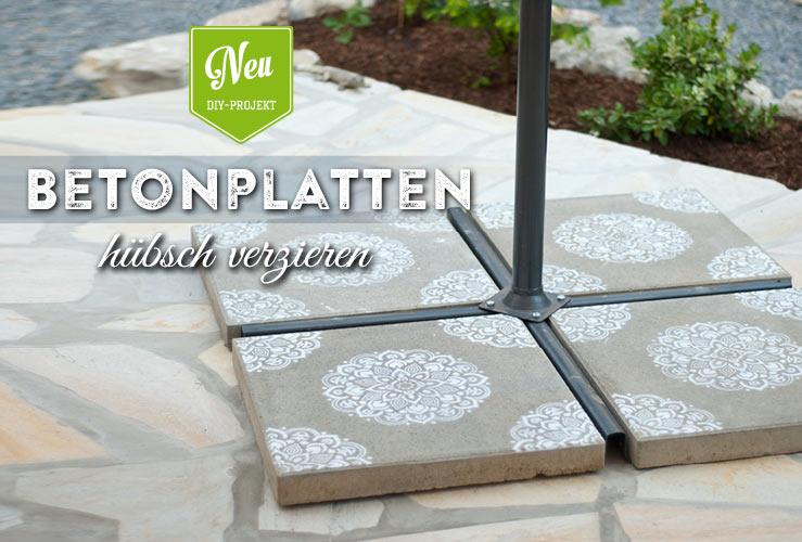 DIY: Sonnenschirmständer aus Beton einfach verschönern