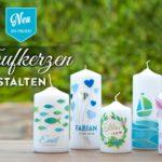 DIY: hübsche Taufkerzen selbermachen Deko Kitchen