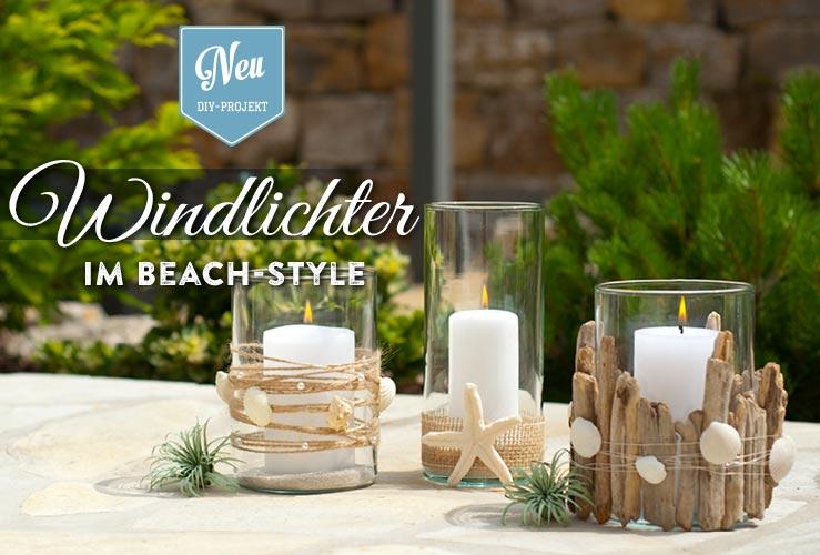 DIY: sommerliche Windlichter im Beach-Style