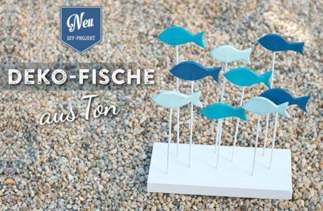 DIY: süße Deko-Fische aus Ton selbermachen