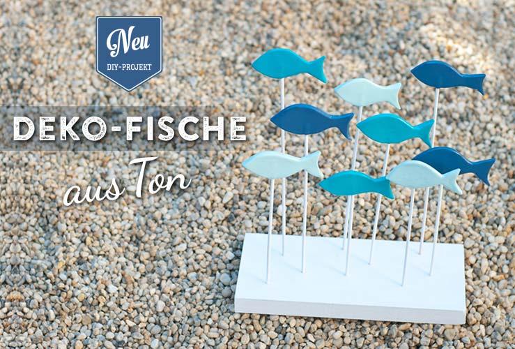 DIY: süße Deko-Fische aus Ton