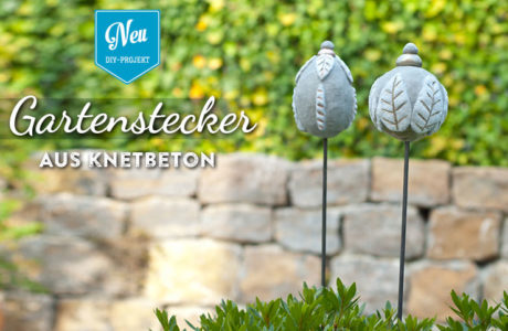 DIY Gartenstecker aus Knetbeton Deko-Kitchen