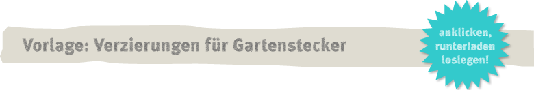 Vorlage Gartenstecker aus Knetbeton Deko-Kitchen