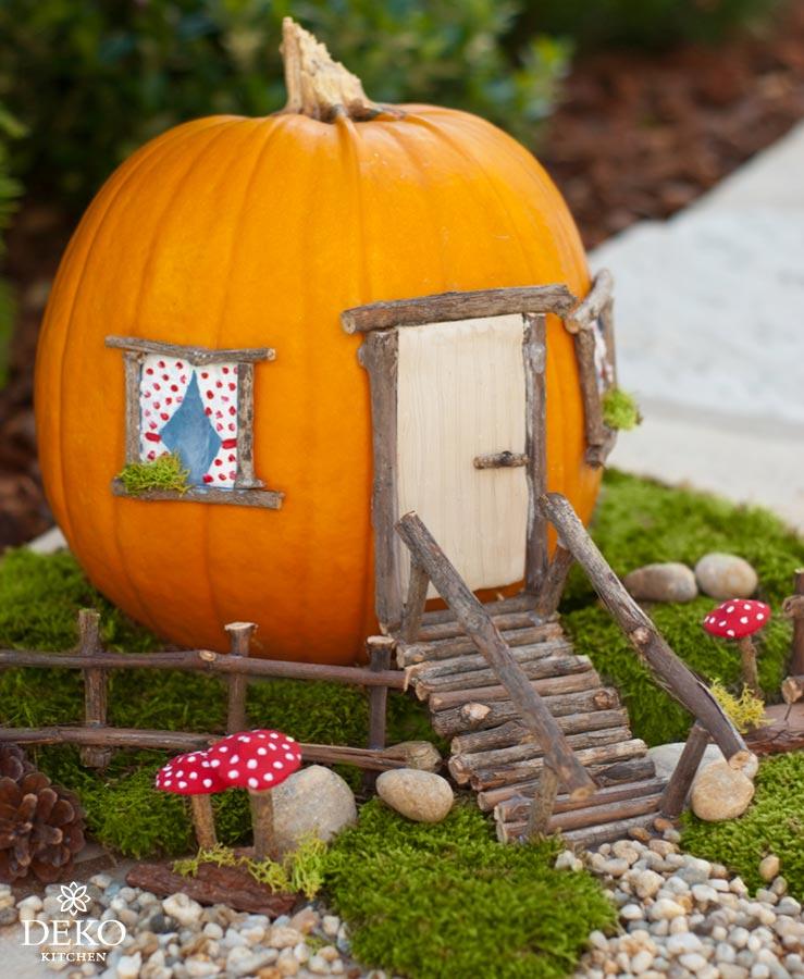 DIY: Herbstdeko mit süßem Kürbis-Haus für Kinder Deko-Kitchen