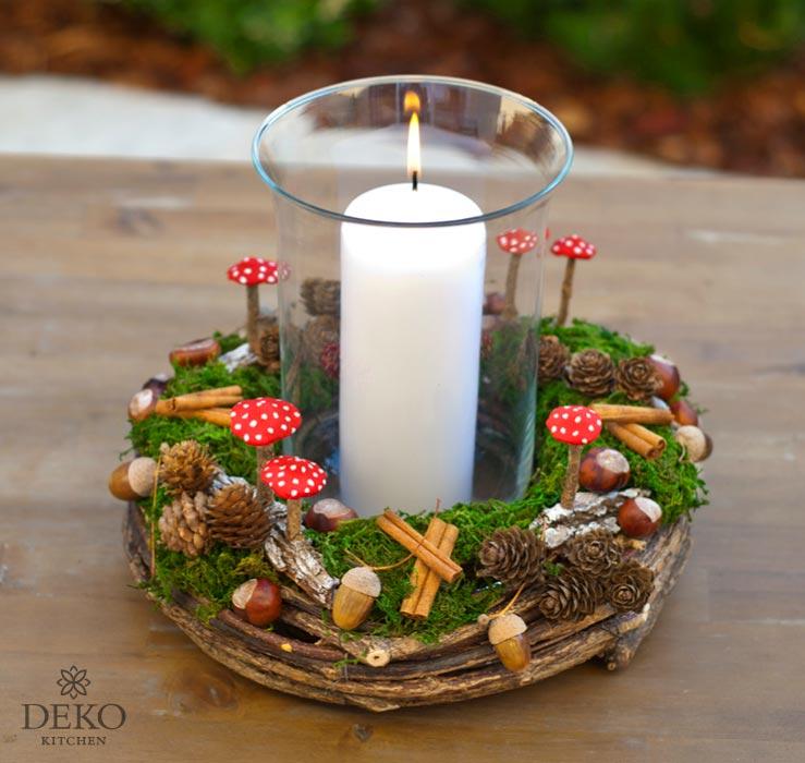 Diy Susse Herbstdeko Mit Naturmaterial Deko Kitchen