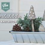 DIY: Herbstdeko für's Fenster mit Pilzen aus Knetbeton Deko-Kitchen