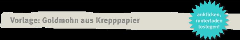 Vorlage Goldmohn aus Krepppapier Deko-Kitchen