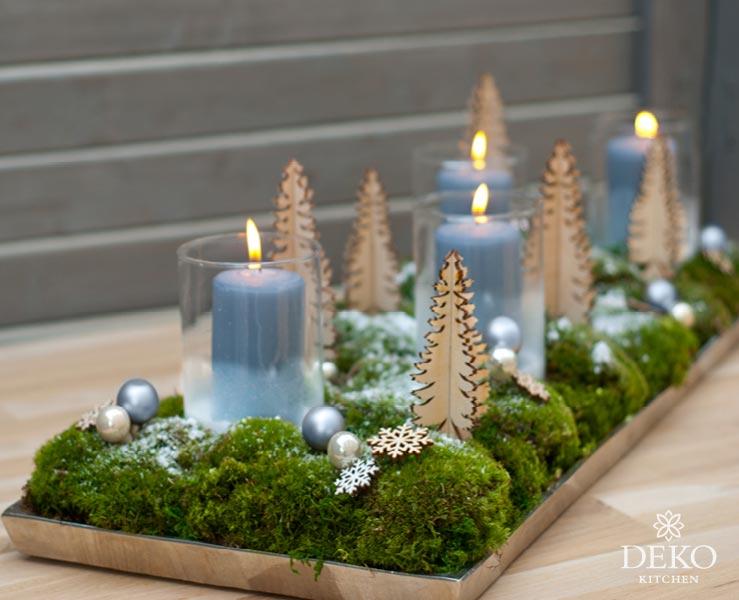 DIY: süßer Adventskranz mit kleiner Waldlandschaft Deko Kitchen