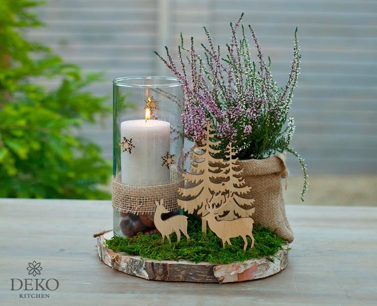 Diy Susse Tischdeko Fur Herbst Oder Winter Deko Kitchen