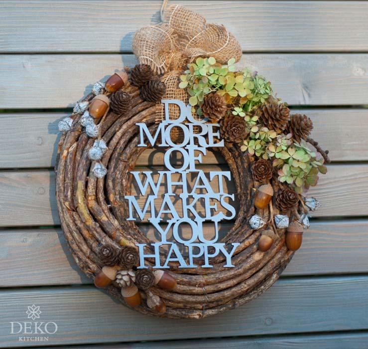 DIY: Herbstdeko mit Türkranz aus Naturmaterial Deko-Kitchen