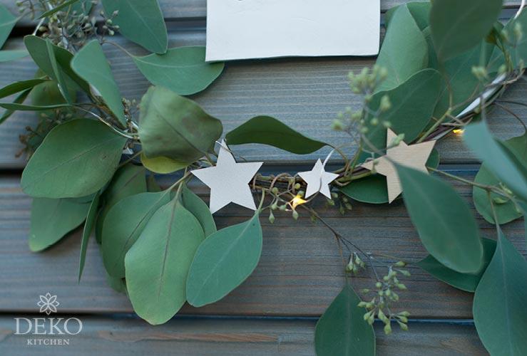 Diy Weihnachtsdeko Für Die Wand Mit Metallringen Deko Kitchen