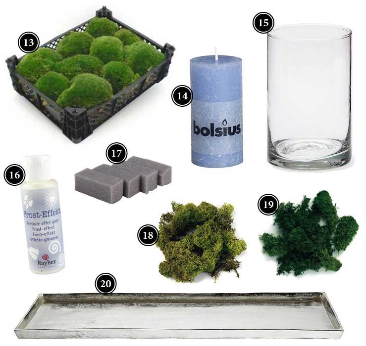 passende Produkte für den Adventskranz mit Waldlandschaft