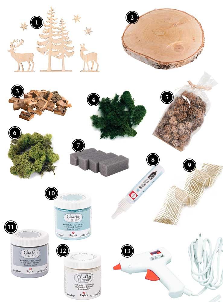 Produkte für Tischdeko Herbst oder Winter