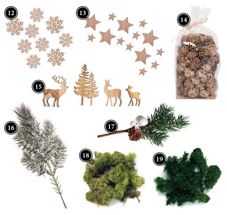 Produkte für hübsche Weihnachtsdeko mit Winterszenen in Sternrahmen Deko-Kitchen