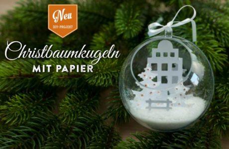 DIY: wunderschöne Christbaumkugeln mit kleinen Winterlandschaften