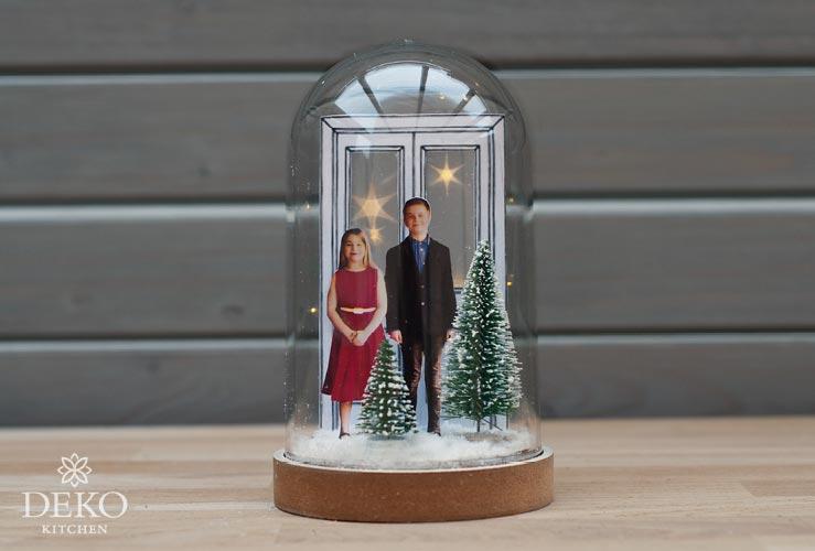 DIY: Weihnachtsdeko mit Familienfotos unter Dekohauben Deko-Kitchen