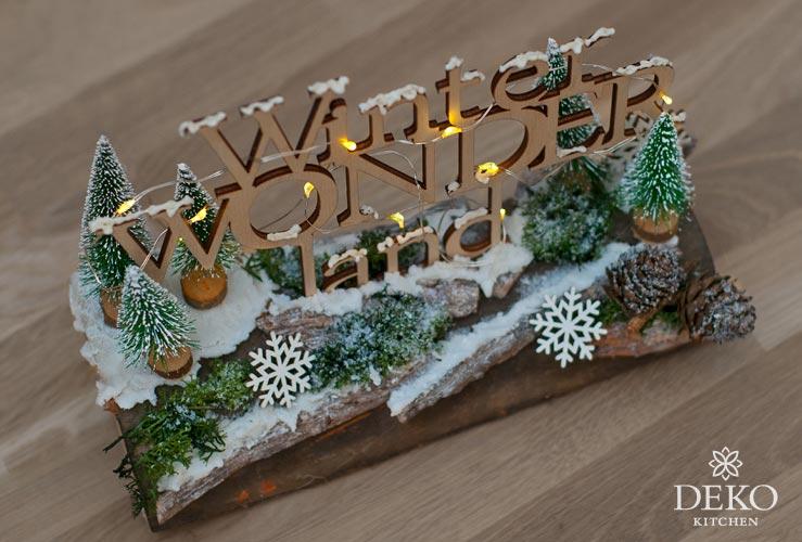 DIY: weihnachtliche Fensterdeko mit süßer Winterlandschaft