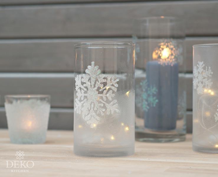 DIY: wunderschöne winterliche Kerzengläser Deko-Kitchen