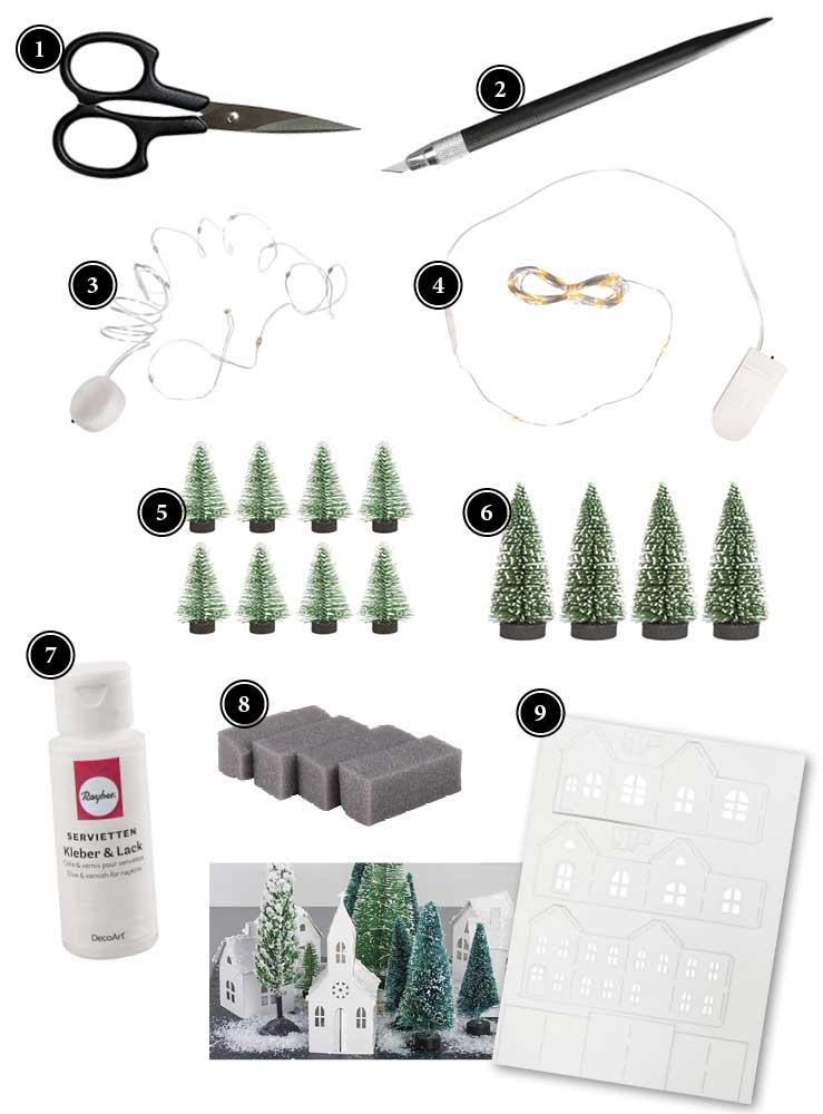 Produkte für Windlichter mit Schneelandschaft