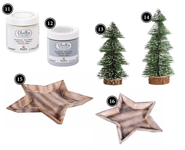 Produkte für wunderschöne winterliche Kerzengläser Deko-Kitchen